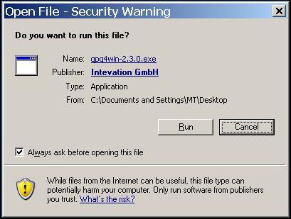 StudioSG - Gnu Privacy Guard for Windows